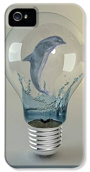Dolphin Play IPhone 5 Case by Marvin Blaine