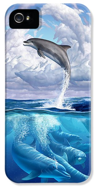 Weather iPhone 5 Case - Dolphonic Symphony by Jerry LoFaro
