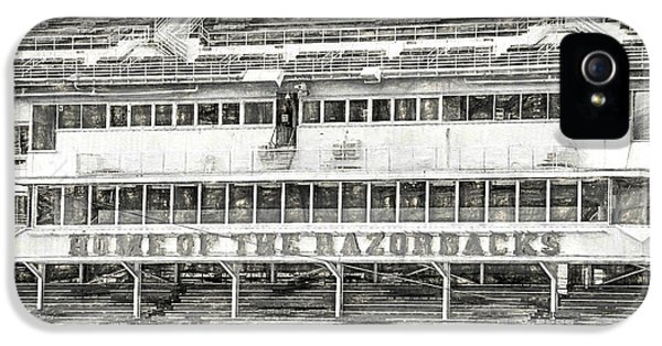 Donald W. Reynolds Razorback Stadium IPhone 5 Case by JC Findley