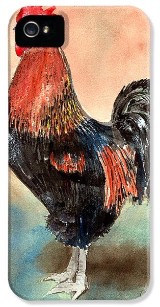 Rooster iPhone 5 Case - Doodle by Arline Wagner