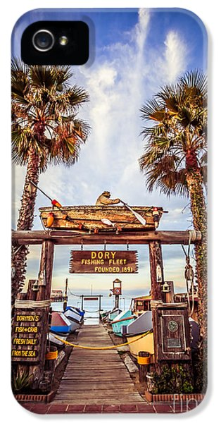 Dory Fishing Fleet Market Picture Newport Beach IPhone 5 / 5s Case by Paul Velgos