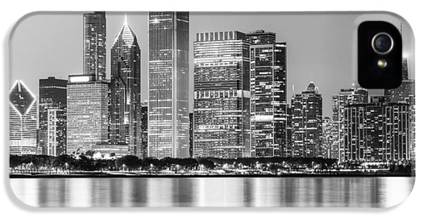 Downtown Chicago Skyline Black And White Photo IPhone 5 Case