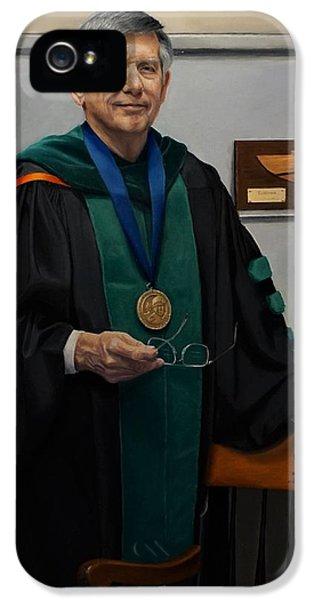 University Of Arkansas iPhone 5 Case - Dr William Culp by Glenn Beasley
