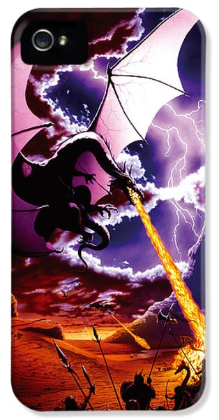 Dragon Attack IPhone 5 Case by The Dragon Chronicles - Steve Re