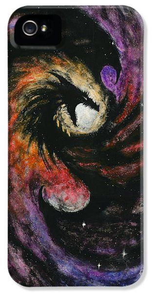 Dragon iPhone 5 Case - Dragon Galaxy by Stanley Morrison