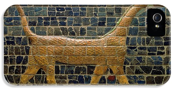 Dragon Of Marduk - On The Ishtar Gate IPhone 5 Case by Anonymous