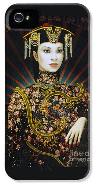 Dragon iPhone 5 Case - Dragon Smoke by Jane Whiting Chrzanoska
