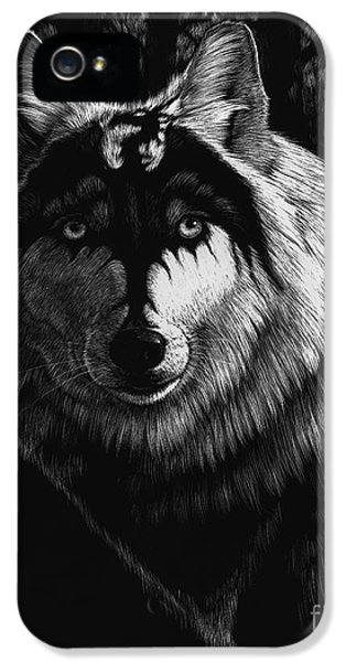 Dragon iPhone 5 Case - Dragon Wolf by Stanley Morrison