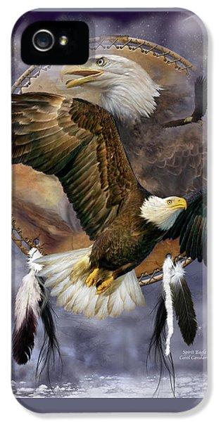Dream Catcher - Spirit Eagle IPhone 5 Case by Carol Cavalaris
