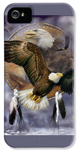 Dream Catcher - Spirit Eagle IPhone 5 Case by Carol Cavalaris