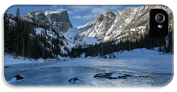 IPhone 5 Case featuring the photograph Dream Lake Morning by Aaron Spong