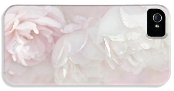 Dreamy Rose Flowers In Pink White Pastels IPhone 5 Case by Jennie Marie Schell