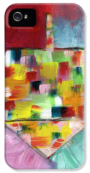 Dreidel Of Many Colors- Art By Linda Woods IPhone 5 Case by Linda Woods