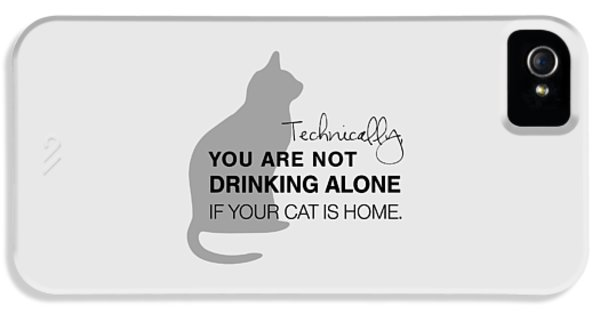 Cat iPhone 5 Case - Drinking With Cats by Nancy Ingersoll