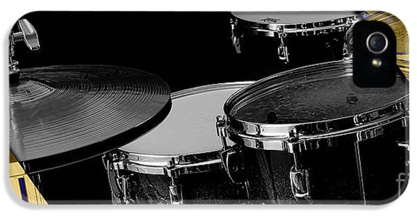 Drum Set Collection IPhone 5 Case by Marvin Blaine