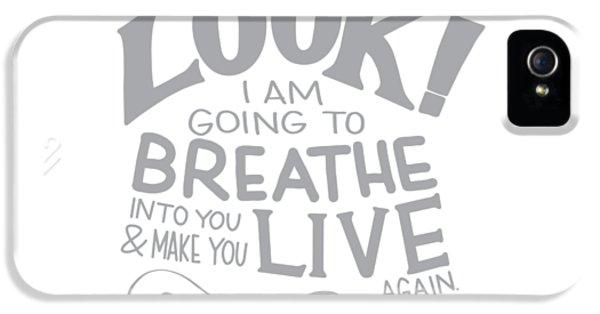 Breathe iPhone 5 Case - Dry Bones by Nancy Ingersoll