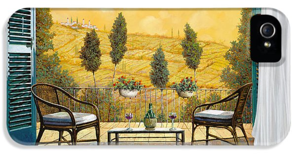 due bicchieri di Chianti IPhone 5 Case by Guido Borelli