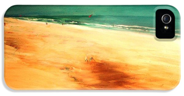 IPhone 5 Case featuring the painting Dune Shadows by Winsome Gunning