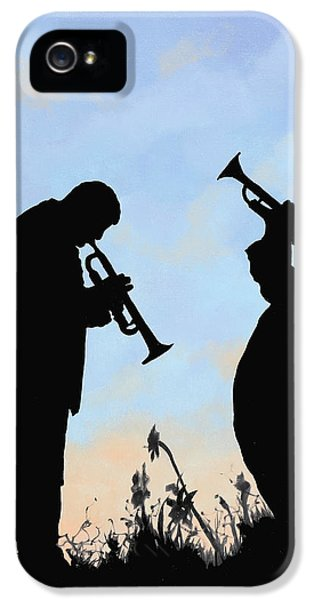 Trumpet iPhone 5 Case - duo by Guido Borelli
