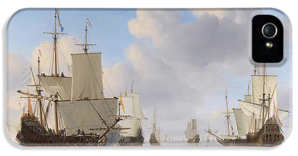 Dutch Ships In A Calm IPhone 5 Case by War Is Hell Store
