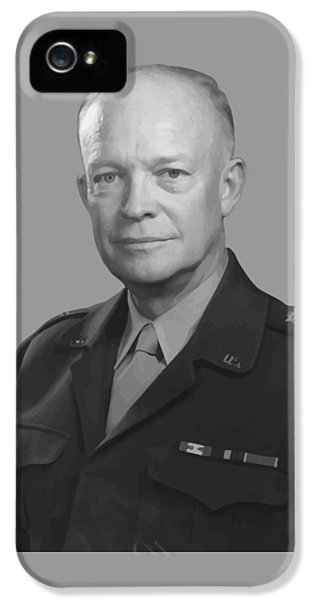 Dwight D. Eisenhower  IPhone 5 Case by War Is Hell Store