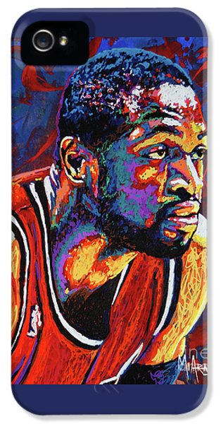 Dwyane Wade 3 IPhone 5 Case by Maria Arango