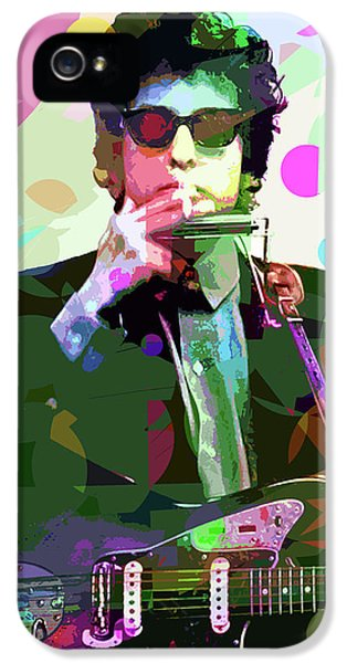 Dylan In Studio IPhone 5 Case by David Lloyd Glover