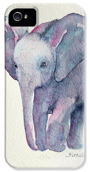 E Is For Elephant IPhone 5 / 5s Case by Richelle Siska