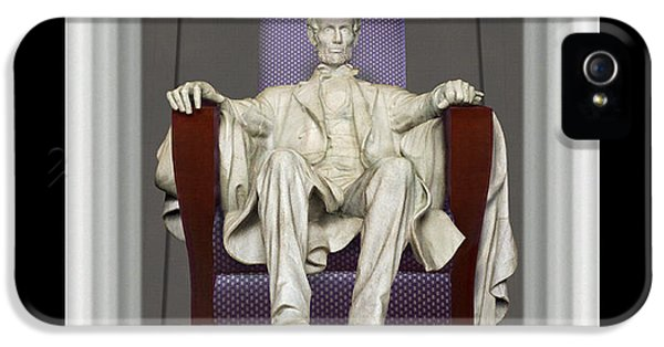 Ea-z-chair Lincoln Memorial IPhone 5 Case by Mike McGlothlen