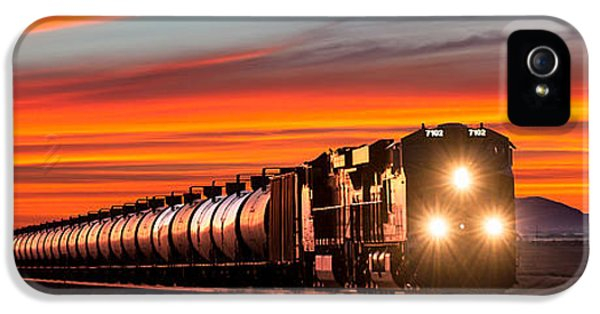 Train iPhone 5 Case - Early Morning Haul by Todd Klassy