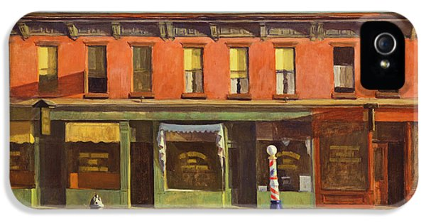 Early Sunday Morning IPhone 5 Case by Edward Hopper