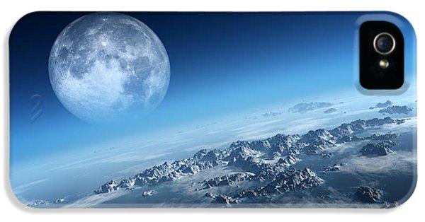 Moon iPhone 5 Case - Earth Icy Ocean Aerial View by Johan Swanepoel