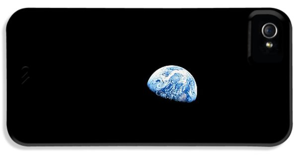 Earthrise Over Moon, Apollo 8 IPhone 5 / 5s Case by Nasa