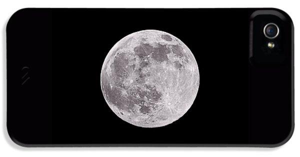 Earth's Moon IPhone 5 Case by Steve Gadomski