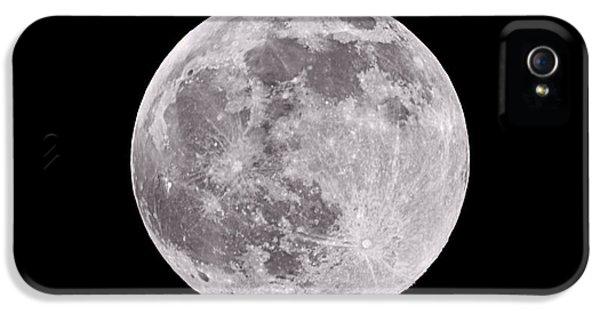 Moon iPhone 5 Case - Earth's Moon by Steve Gadomski