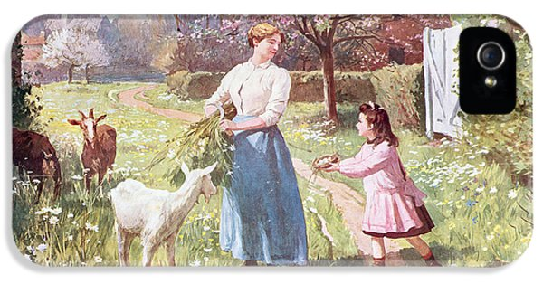 Easter Eggs In The Country IPhone 5 / 5s Case by Victor Gabriel Gilbert
