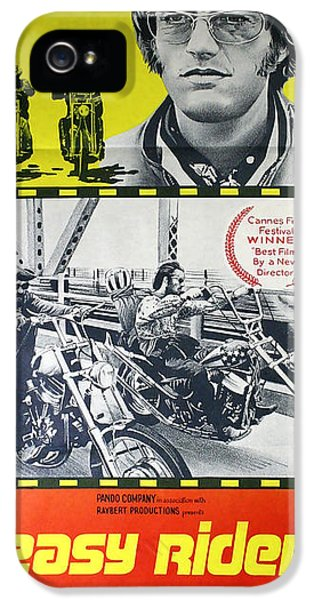 Easy Rider Movie Lobby Poster  1969 IPhone 5 Case by Daniel Hagerman
