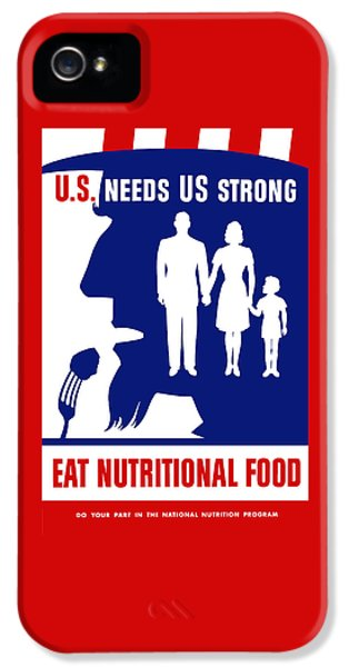 Uncle Sam - Eat Nutritional Food IPhone 5 Case