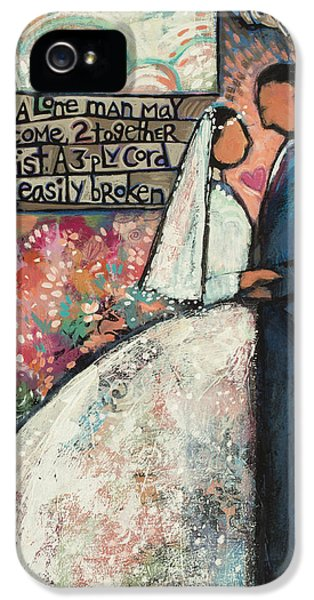 Ecclesiastes 4 12 Wedding Art IPhone 5 Case