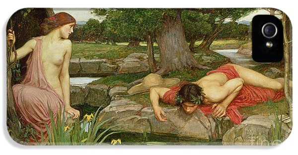 Echo And Narcissus IPhone 5 Case by John William Waterhouse