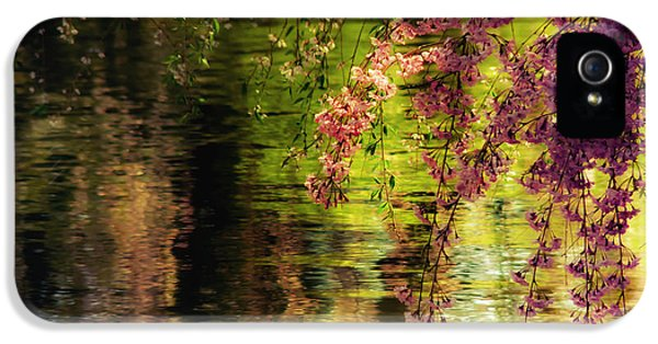 Echoes Of Monet - Cherry Blossoms Over A Pond - Brooklyn Botanic Garden IPhone 5 Case