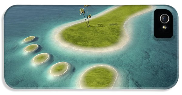 Eco Footprint Shaped Island IPhone 5 Case by Johan Swanepoel