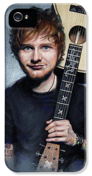 Folk Art iPhone 5 Case - Ed Sheeran by Andre Koekemoer