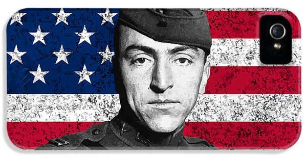 Eddie Rickenbacker And The American Flag IPhone 5 Case by War Is Hell Store
