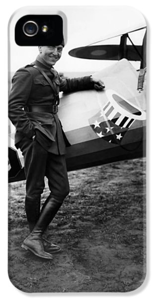 Airplane iPhone 5 Case - Eddie Rickenbacker - Ww1 American Air Ace by War Is Hell Store