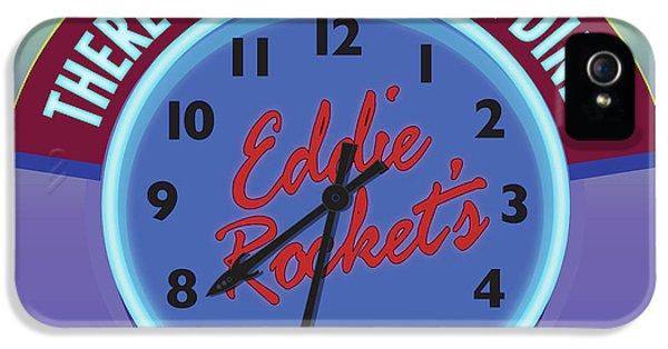 Eddie Rocket Clock IPhone 5 Case by Greg Joens