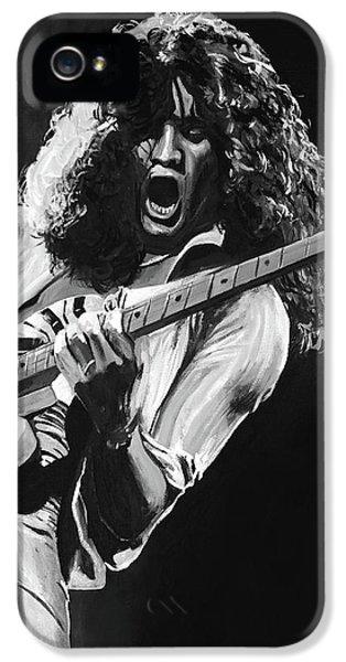 Eddie Van Halen - Black And White IPhone 5 Case