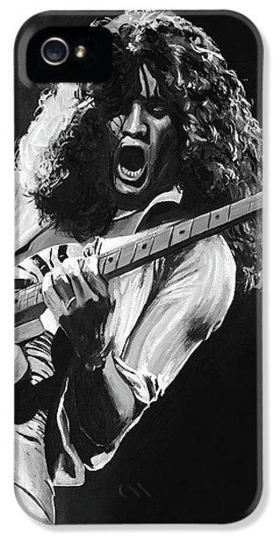Eddie Van Halen - Black And White IPhone 5 / 5s Case by Tom Carlton