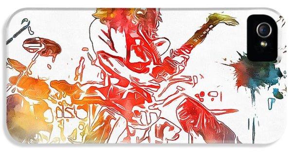 Eddie Van Halen Paint Splatter IPhone 5 Case