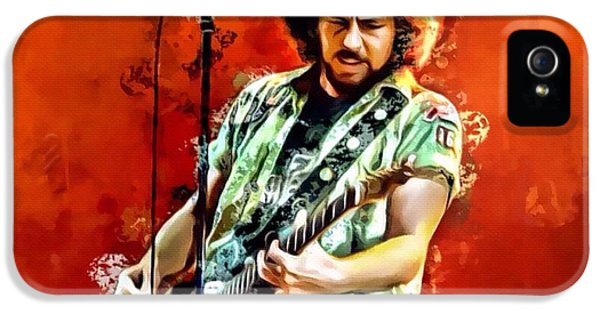 Pearl Jam iPhone 5 Case - Eddie Vedder Of Pearl Jam by Scott Wallace